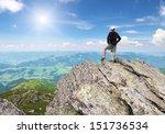 Man On Peak Of Mountain....