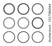round curly frames. set of... | Shutterstock .eps vector #1517386064