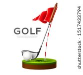 golf tournament poster with...   Shutterstock .eps vector #1517433794