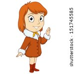 cartoon smiling young red hired ... | Shutterstock .eps vector #151745585