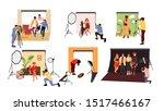 photographers in studio.... | Shutterstock .eps vector #1517466167