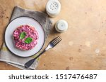Stock photo christmas traditional russian herring salad layered salad with salted herring and vegetables 1517476487