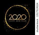 2020 golden new year in golden...   Shutterstock .eps vector #1517519024
