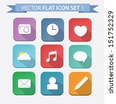 vector flat icon set 1