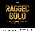 vector handmade  gold  font.... | Shutterstock .eps vector #1517523617