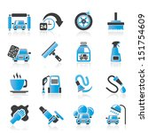 car wash objects and icons  ... | Shutterstock .eps vector #151754609