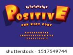 vector of stylized comical font ... | Shutterstock .eps vector #1517549744