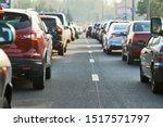 Traffic Jam Or Automobile...