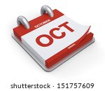 3d illustration calendar of... | Shutterstock . vector #151757609