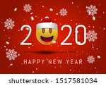 greeting card for 2020 new year ... | Shutterstock .eps vector #1517581034