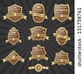 premium quality labels set 4 | Shutterstock .eps vector #151758761