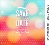 save the date for personal... | Shutterstock .eps vector #151759379
