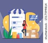 shopping online promotion code... | Shutterstock .eps vector #1517599814
