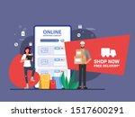 shopping online promotion code...   Shutterstock .eps vector #1517600291
