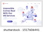 landing page template with man... | Shutterstock .eps vector #1517606441