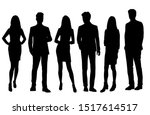 vector silhouettes of  men and... | Shutterstock .eps vector #1517614517