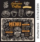 coffee menu template for... | Shutterstock .eps vector #1517615354