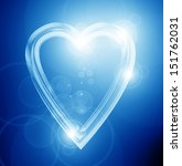 silver heart on a soft blue... | Shutterstock . vector #151762031