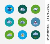 cloud service icons set. blog...