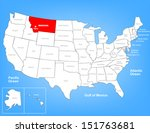 Vector Map of the United States Highlighting the State of Montana; Illustrator 8
