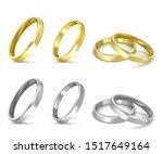 vector gold wedding rings...   Shutterstock .eps vector #1517649164