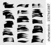 black ink brushstrokes set...   Shutterstock .eps vector #1517661887