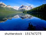 Reflection Of Mountain And...