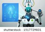 robot artificial intelligence... | Shutterstock .eps vector #1517729831