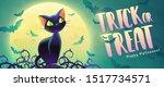 happy halloween invitation....   Shutterstock .eps vector #1517734571