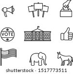 election icons   set of... | Shutterstock .eps vector #1517773511
