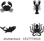seafood icons   4 seafood icons ... | Shutterstock .eps vector #1517773514