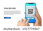 scan qr code from mobile phone. ... | Shutterstock .eps vector #1517774567