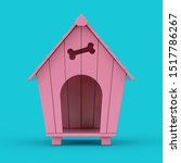 Pink Cartoon Dog House Mockup...