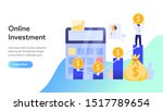 online investment concept....