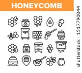 honeycomb collection elements... | Shutterstock .eps vector #1517790044