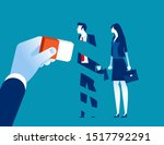 manager removed employee with... | Shutterstock .eps vector #1517792291