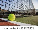 tennis court with tennis ball...   Shutterstock . vector #151782197