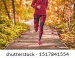 Run Path Woman Running In...