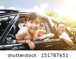 happy little girl with family... | Shutterstock . vector #151787651