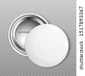 mockup set of blank white round ... | Shutterstock .eps vector #1517893367