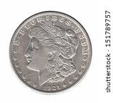 Silver Morgan Dollar Isolated...