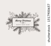 merry christmas abstract... | Shutterstock .eps vector #1517900657