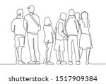 contour line drawing group of... | Shutterstock .eps vector #1517909384