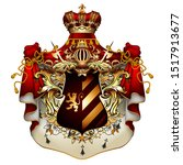 heraldic shield with a crown... | Shutterstock .eps vector #1517913677