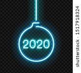vector realistic isolated neon... | Shutterstock .eps vector #1517918324