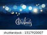 merry christmas  shining... | Shutterstock .eps vector #1517920007