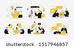 business concept illustrations. ... | Shutterstock .eps vector #1517946857
