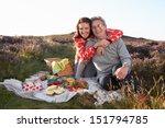 senior couple having picnic on... | Shutterstock . vector #151794785