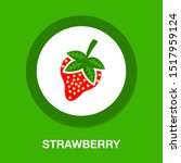 vector strawberry illustration... | Shutterstock .eps vector #1517959124