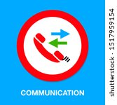 phone sign icon  call center ... | Shutterstock .eps vector #1517959154